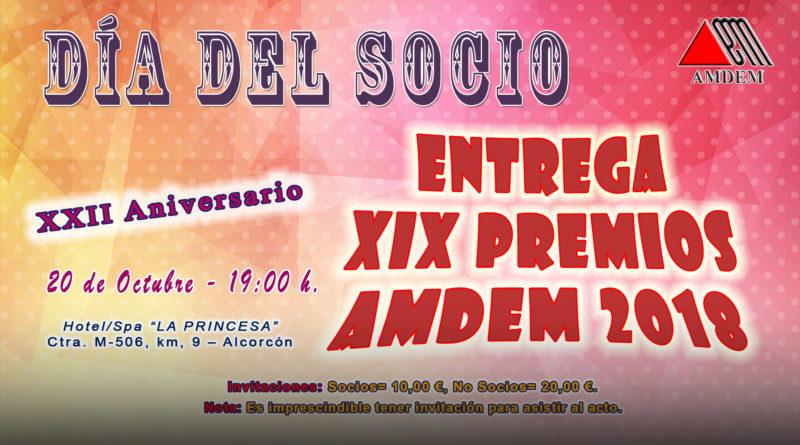 Día del Socio y Entrega de los XIX Premios AMDEM 2018 – AMDEM