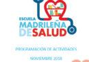 Boletín de actividades Noviembre – Escuela Madrileña de Salud