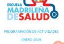 Boletín de actividades Enero – Escuela Madrileña de Salud