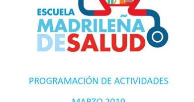 Boletín de actividades Marzo – Escuela Madrileña de Salud